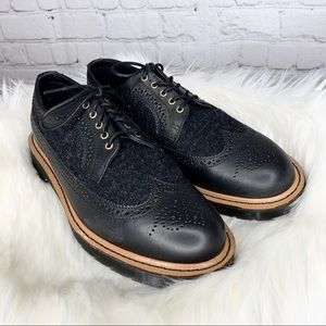 Dr Martens 3989 Leather Wingtip Lace Up Oxfords